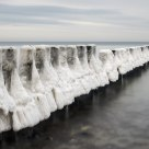 Frozen groynes