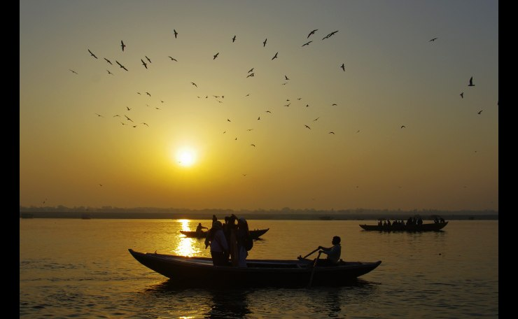 The Ganges river,