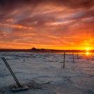 Sunset on the Salt Flats