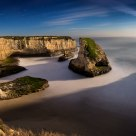 Shark Fin Cove (moonlit)