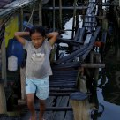 THE BRIDGEROAD OF FISHINGVILLAGE IN CAMBODIA
