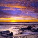 Hokitika Beach in the sunset