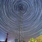 Startrails in the Red Cross