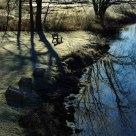 Frosty Riverside Bench