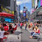 Relaxing in Time Square