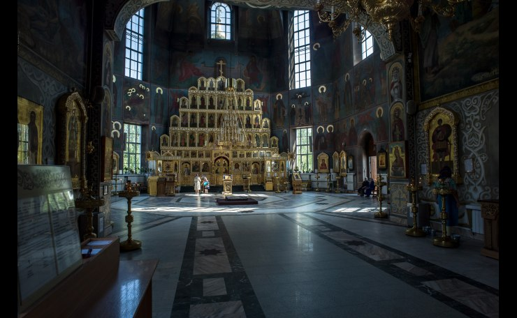 Interior of the Russian Orthodox Church