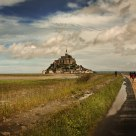 Walking Towards The Mont St Michel
