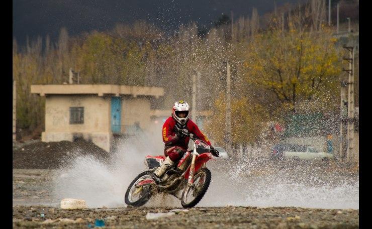 Motocross Over River