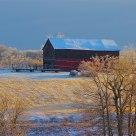 Red Barn Golden Winter