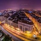 The city onto the horizon