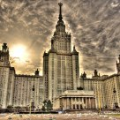Moscow State University under  October sun.