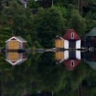 Colorful Boathouse