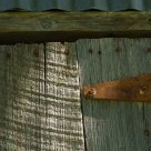 Old pole barn door
