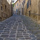 Narrow streets of Montalcino