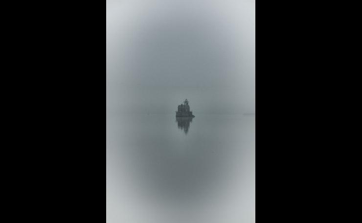 Hudson River Lighthouse in Fog