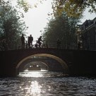 Leidsegracht ablaze with the late-afternoon sun