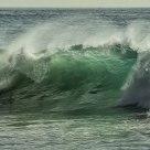 Aqua Cresting Wave