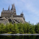 Hogwarts castle and the black lake