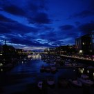 Downtown Trondheim Norway by night