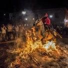 Crossing the bonfire