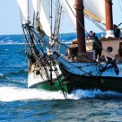 Schooner Liberty Clipper in race off Cape Ann