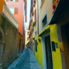 The bright houses in Malcesine.
